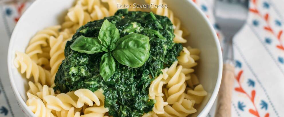 Vegetarisches Rezept: Nudeln mit Spinatsoße_3