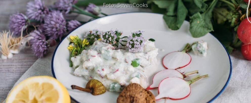 Vegetarisches Rezept: Obazda mit Roquefort, Birne und Walnuss_3