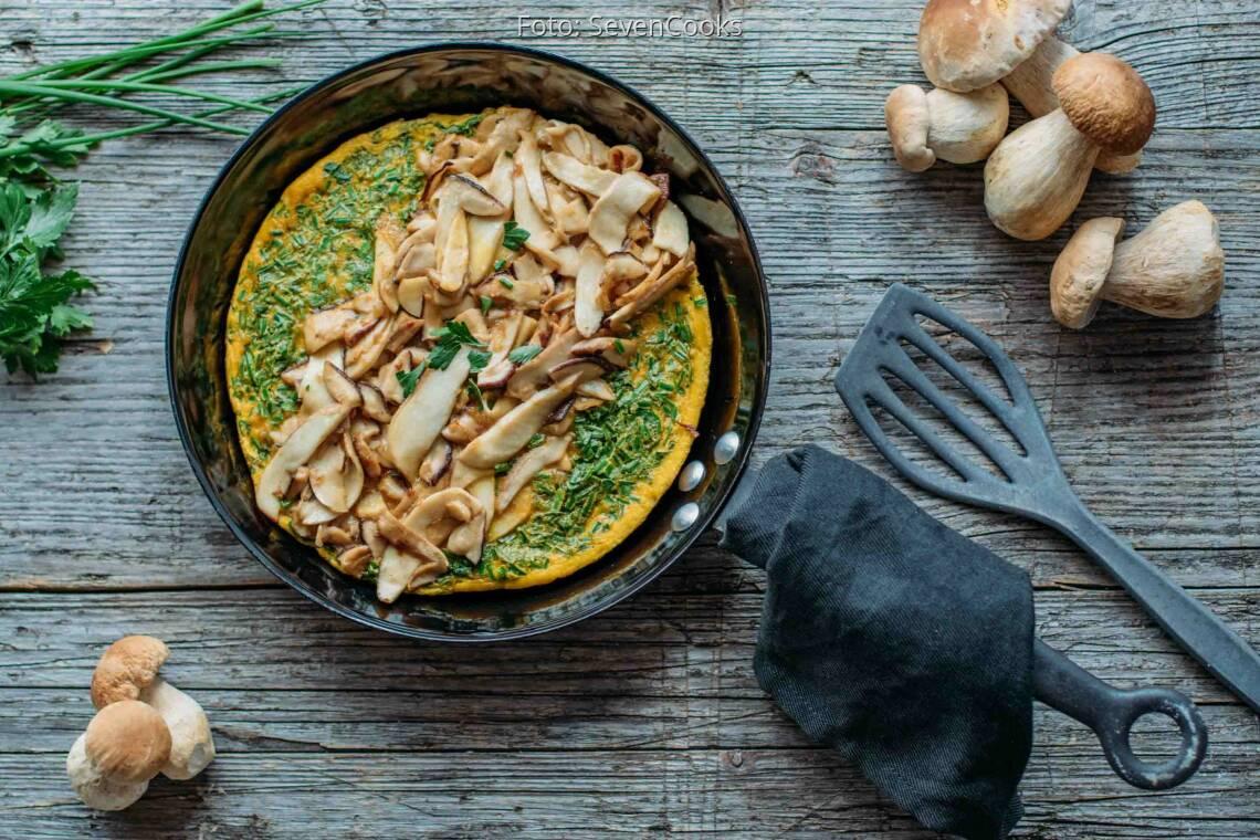 Vegetarisches Rezept: Omelett mit Steinpilzen_1
