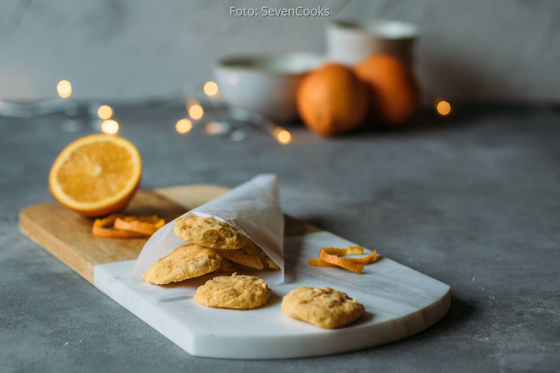 Vegetarisches Rezept: Orangenkekse 1
