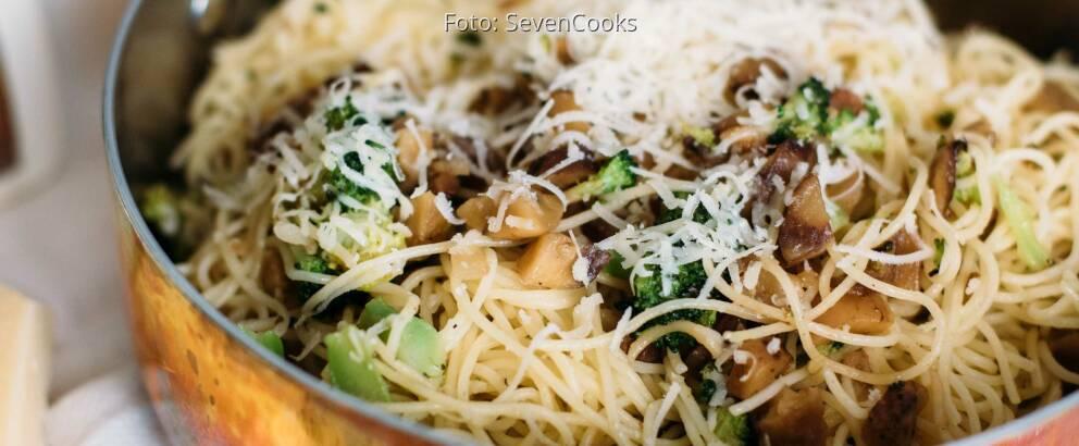 Vegetarisches Rezept: Pasta mit gehackten Maronen 3