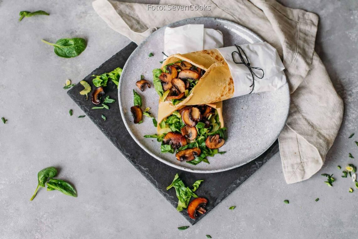 Vegetarisches Rezept: Pfannkuchen Wraps 2