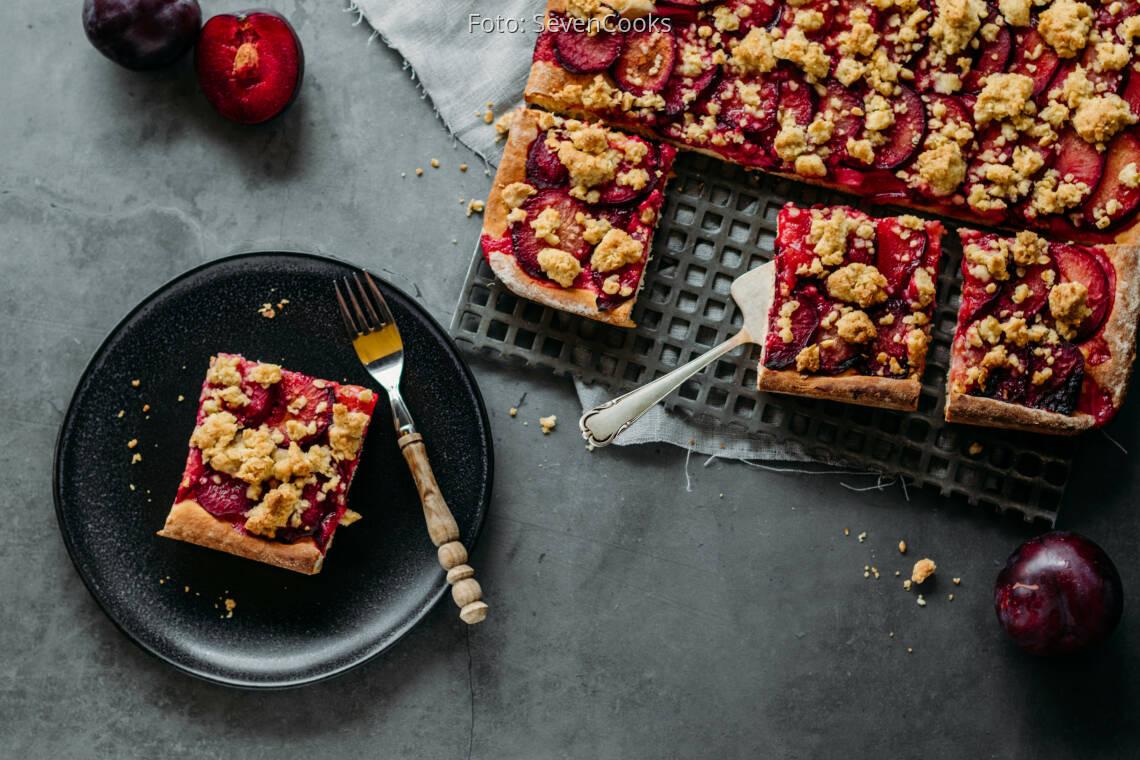 Vegetarisches Rezept: Pflaumenkuchen vom Blech