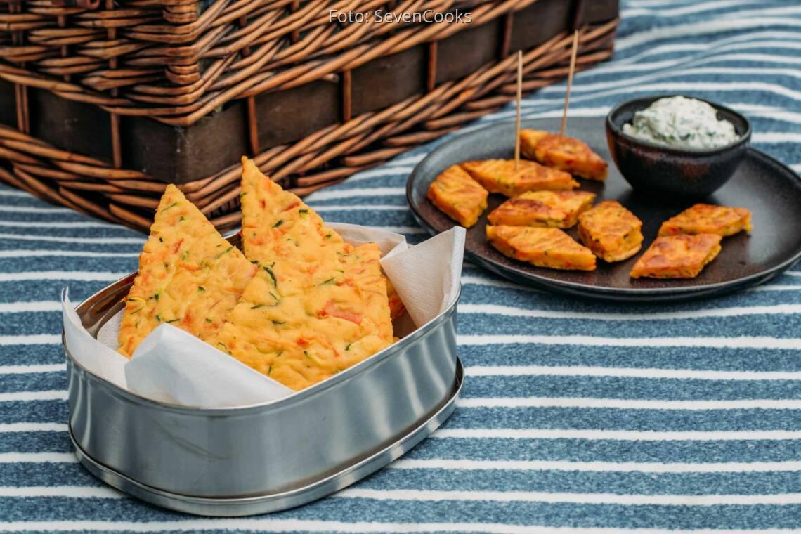 Vegetarisches Rezept: Picknick-Pfannkuchen-Rauten 1