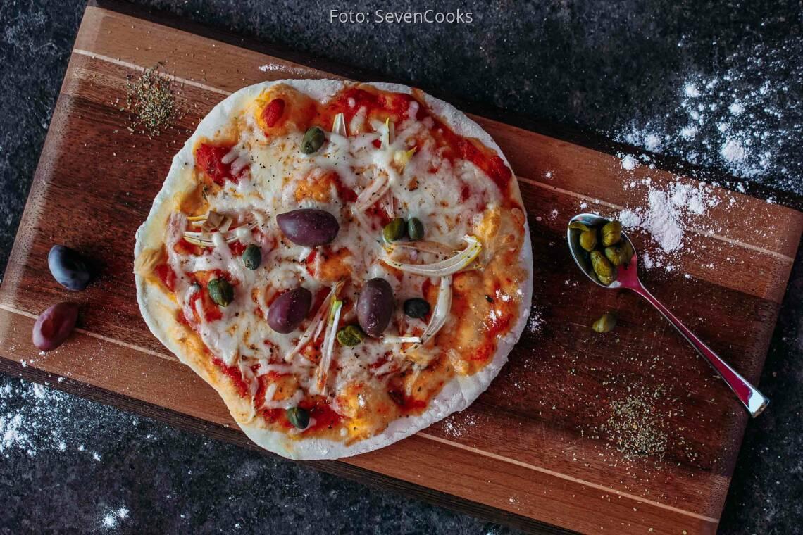 Vegetarisches Rezept: Pizza vom Grill 1