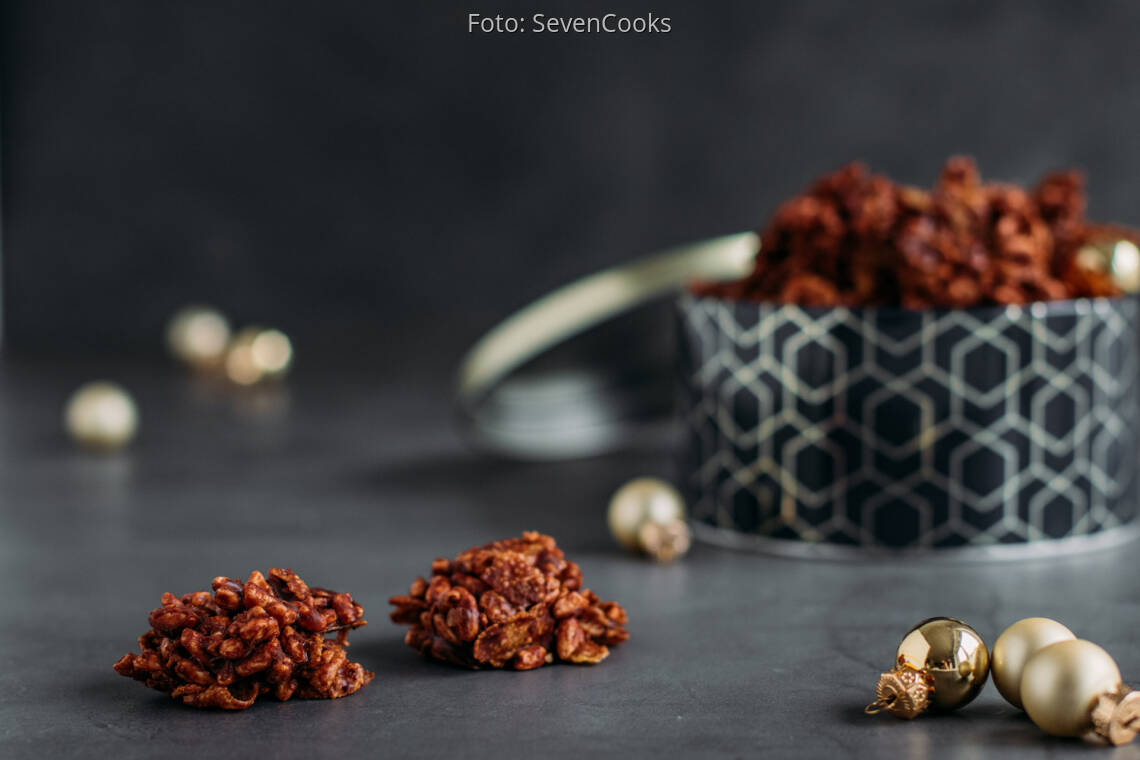 Vegetarisches Rezept: Puffreis-Schoko-Crossies 1