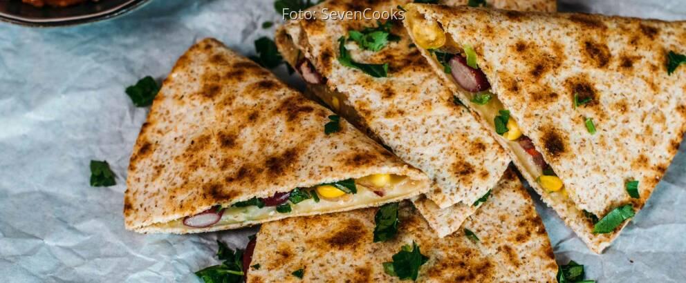 Vegetarisches Rezept: Quesadillas mit Gemüse 1