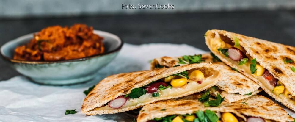 Vegetarisches Rezept: Quesadillas mit Gemüse 2