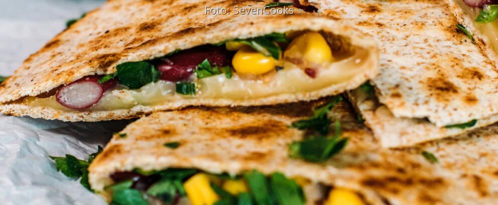 Vegetarisches Rezept: Quesadillas mit Gemüse 3