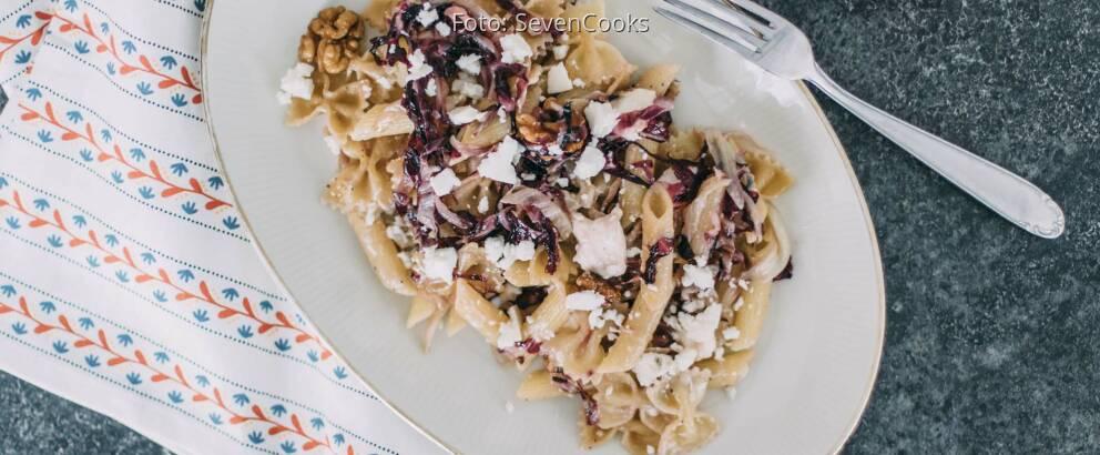 Vegetarisches Rezept: Radicchio-Walnuss-Pasta