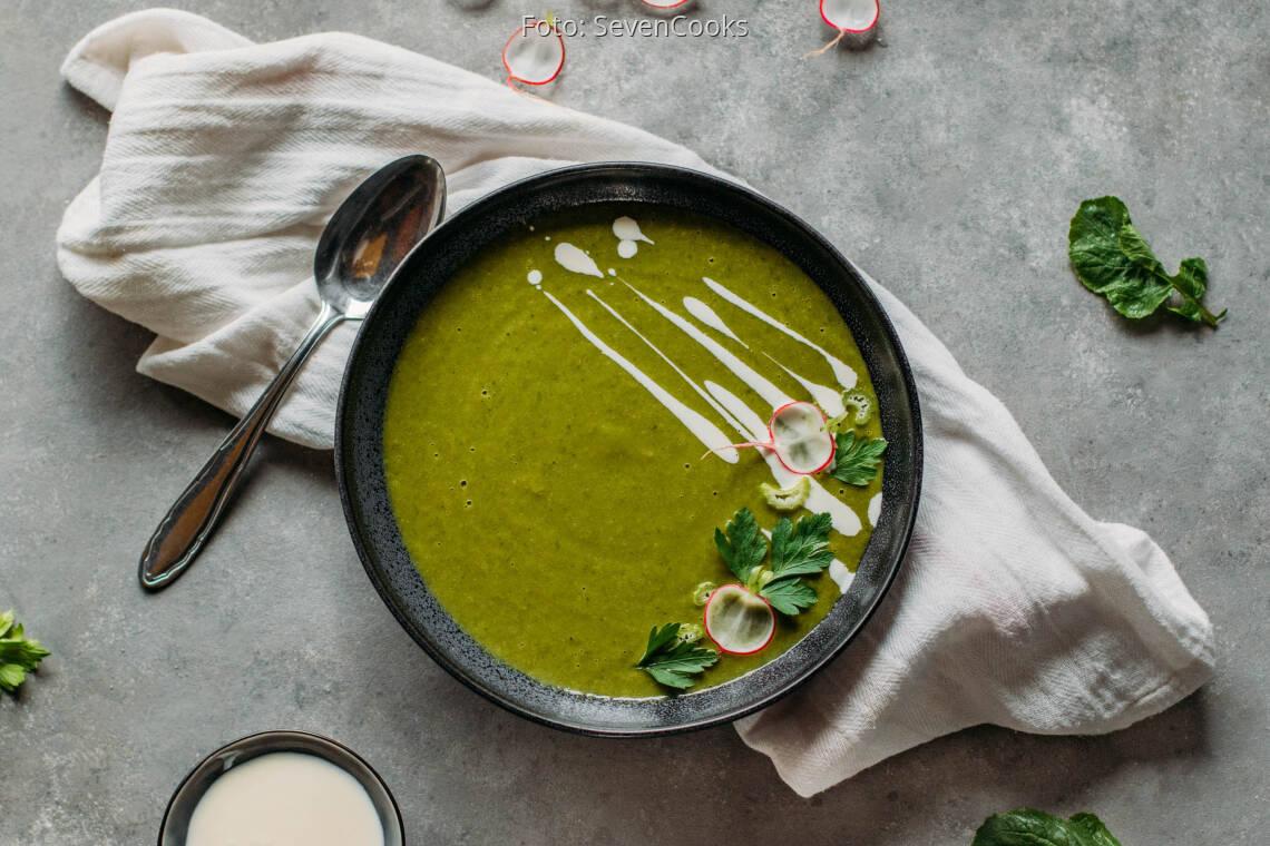 Vegetarisches Rezept: Radieschenblättersuppe