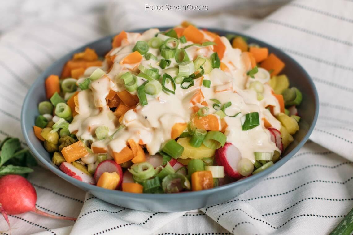 Vegetarisches Rezept: Rheinisch-westfälischer-Kartoffelsalat_1