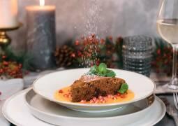 Vegetarisches Rezept: Rotweinkuchen mit Mangofruchtspiegel 1