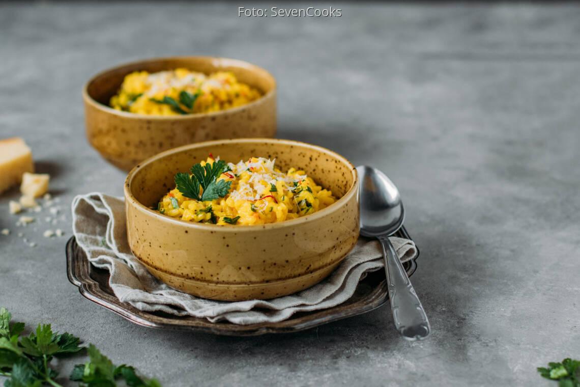 Vegetarisches Rezept: Safranrisotto 2