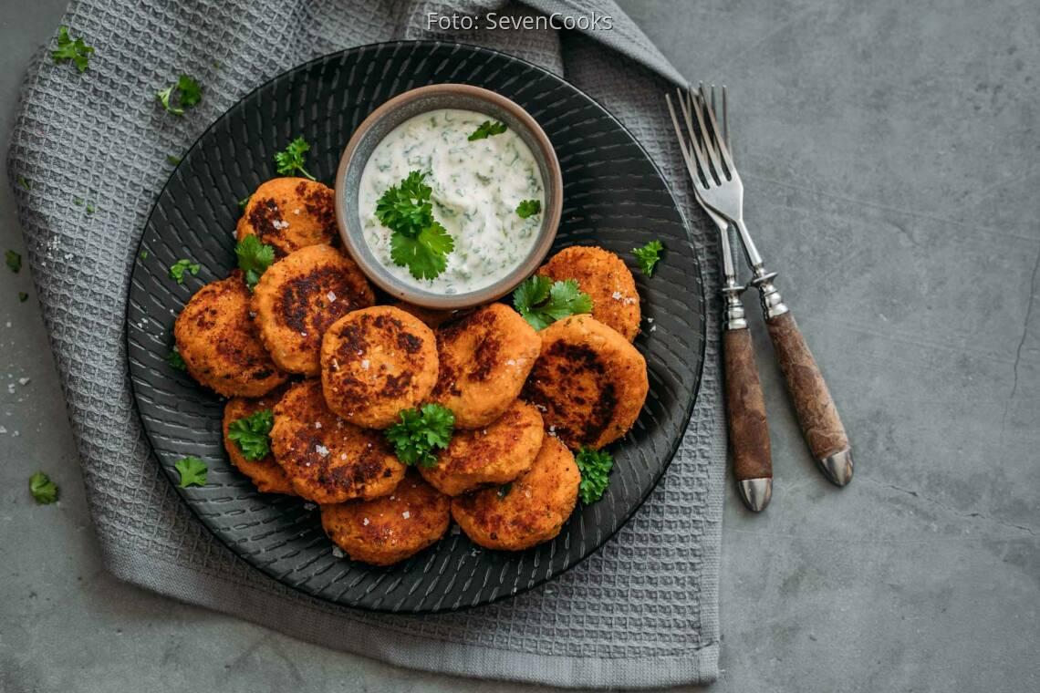 Vegetarisches Rezept: Süßkartoffel-Falafel 1