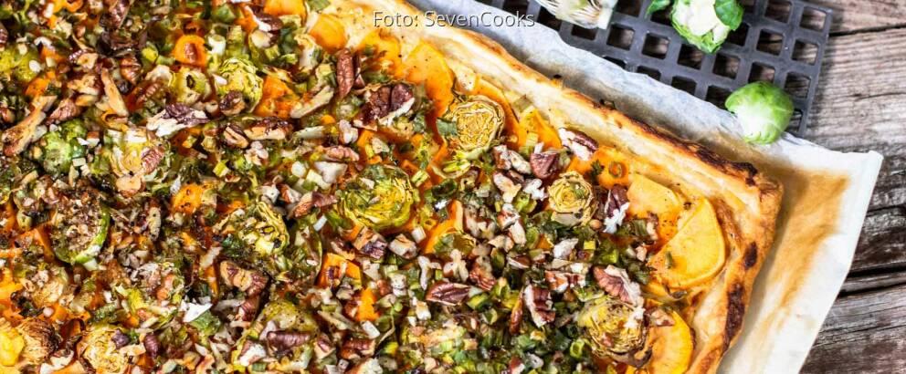 Vegetarisches Rezept: Süßkartoffel-Blätterteig-Tarte 2