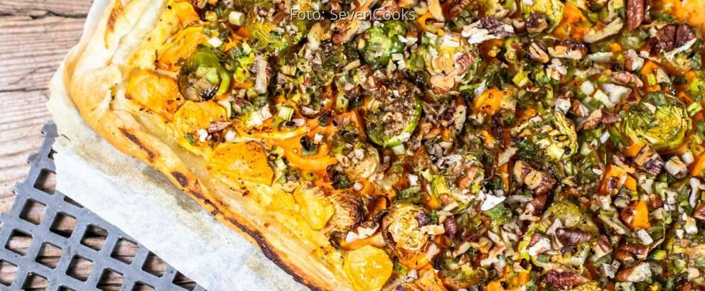 Vegetarisches Rezept: Süßkartoffel-Blätterteig-Tarte 3
