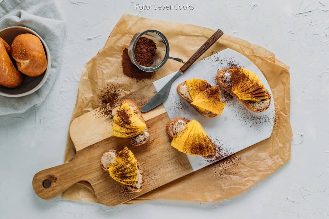 Vegetarisches Rezept: Sunny Breakfast mit Mango und Kakao 1