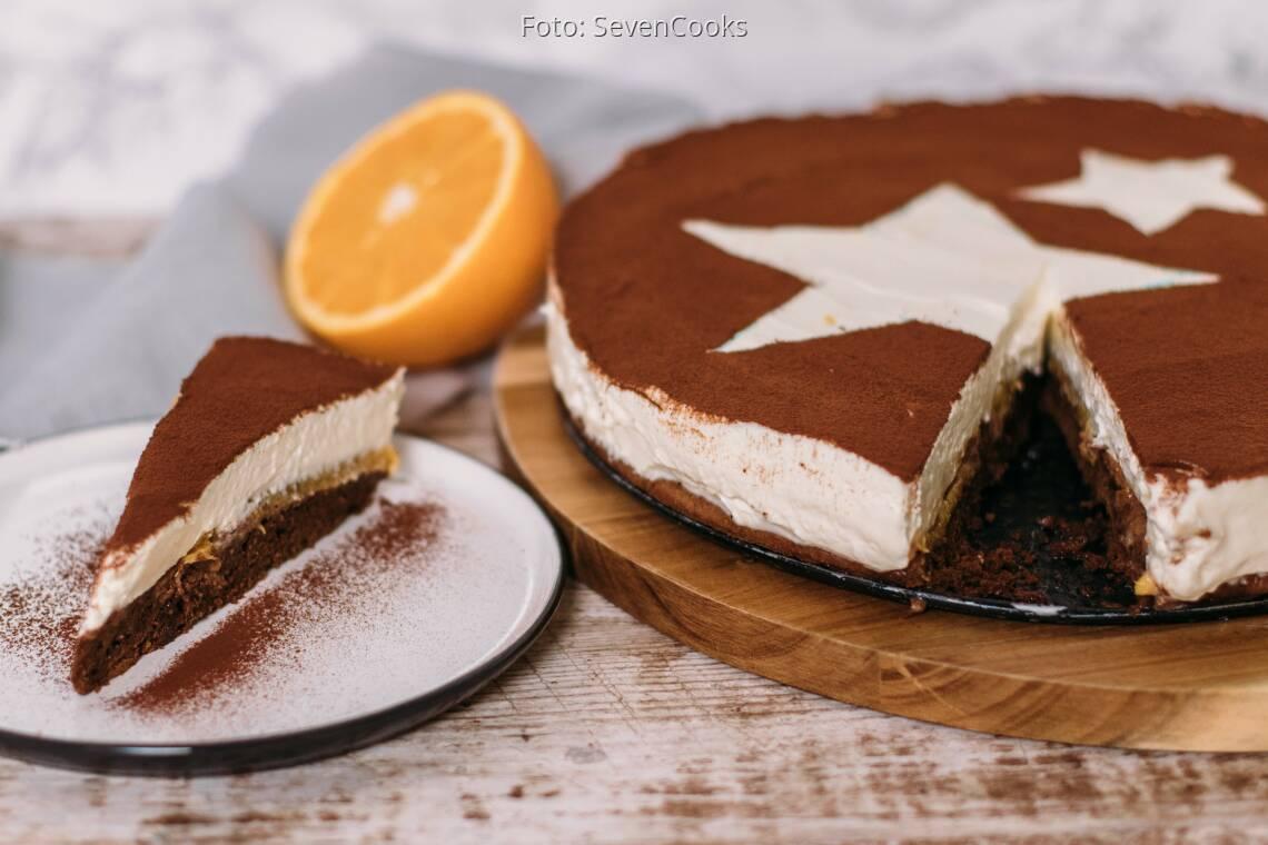 Vegetarisches Rezept: Tiramisu-Torte mit Orangen 1