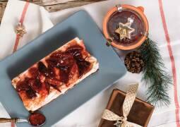 Vegetarisches Rezept: Weihnachtlicher Käsekuchen mit Zwetschgentopping 1