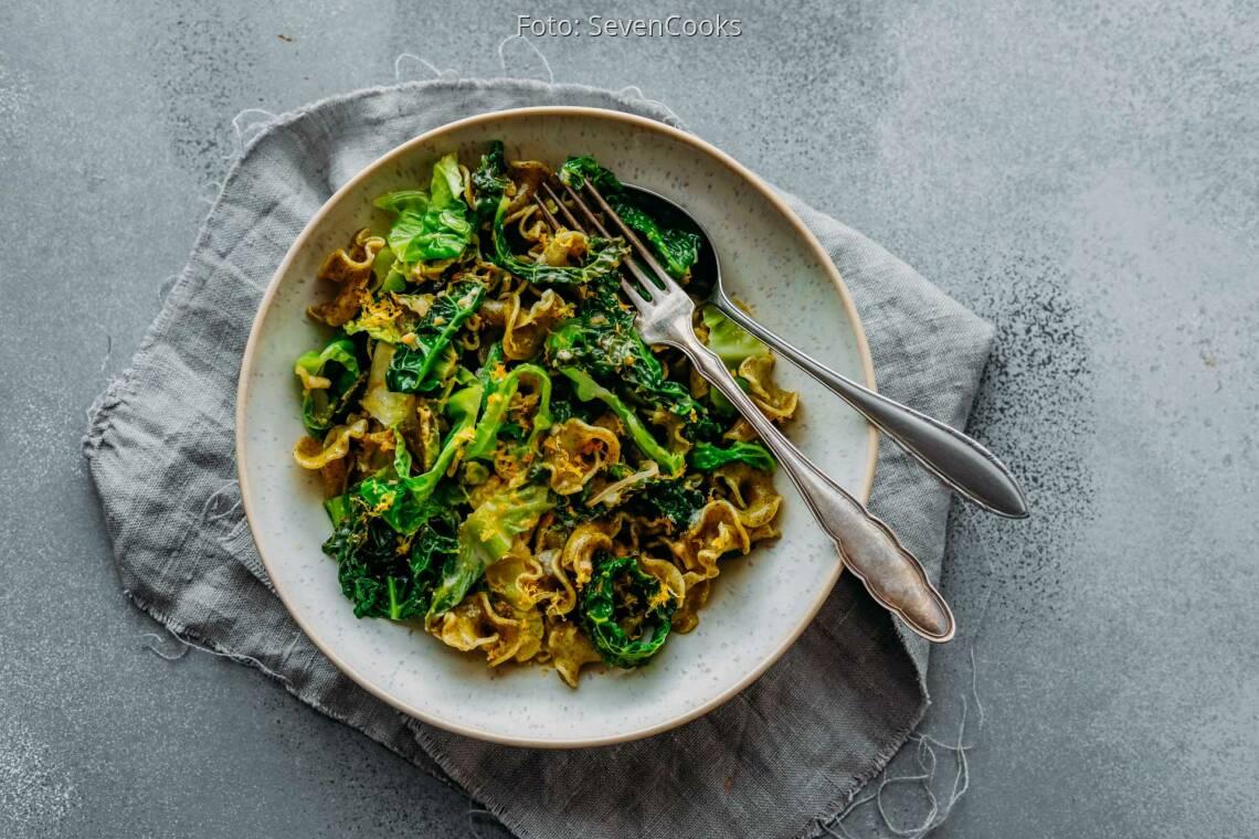 Vegetarisches Rezept: Wirsing Gorgonzola Pasta 1