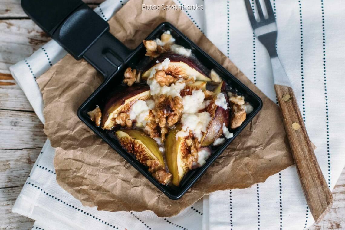 Vegetarisches Rezept: Ziegenkäse-Feigen-Raclette