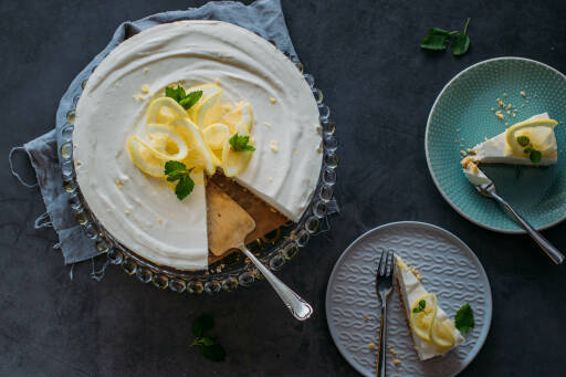 Vegetarisches Rezept: Zitronenkuchen ohne Backen 1