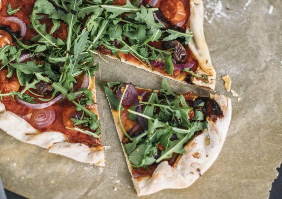 Wochenplan deftiges vegan: Bierteigpizza