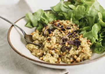Wochenplan deftiges vegan: Pilzrisotto
