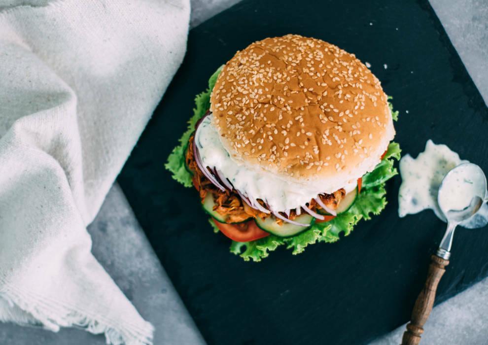 Wochenplan deftiges vegan: Pulled Pork Burger