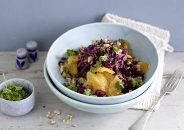 Wochenplan gegen Erkältung: Rotkohl Orangen Salat