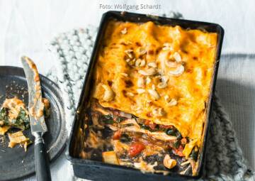 Wochenplan goldener Herbst: Lasagne