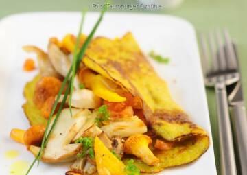 Wochenplan goldener Herbst: Maispfannkuchen