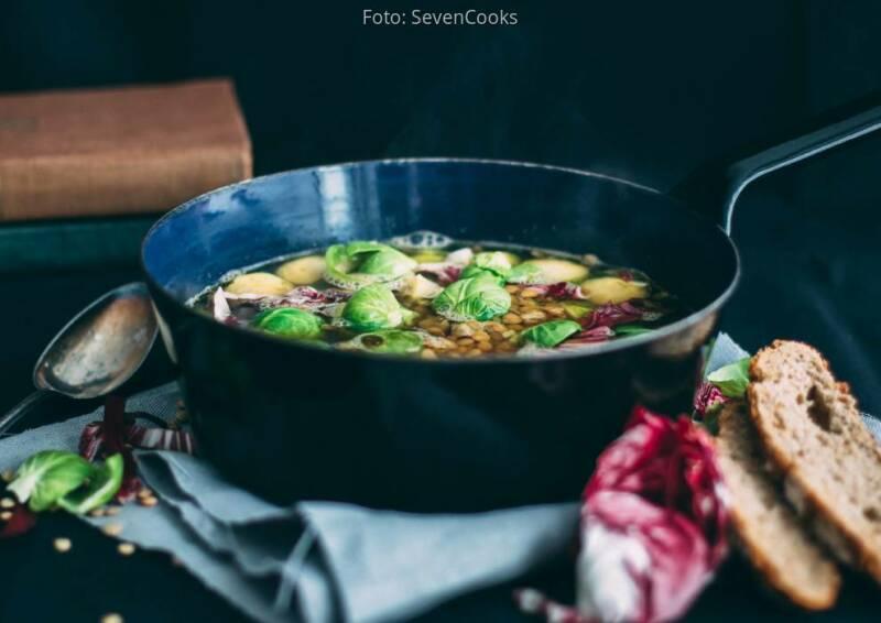 Wochenplan Heiße Gerichte: ingwer rosenkohlsuppe