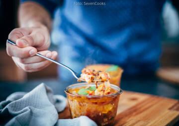 Wochenplan Heiße Gerichte: lasagne im glas