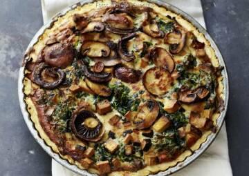 Wochenplan Heiße Gerichte: spinat champignon quiche