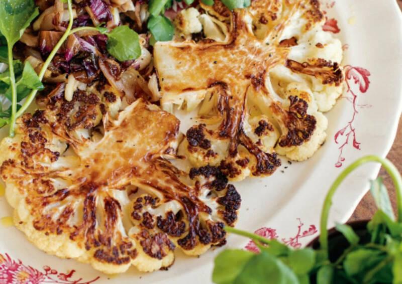 Wochenplan leichte Gerichte fürs neue Jahr: blumenkohlsteak