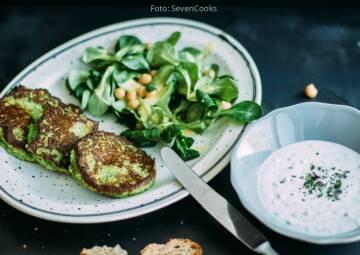 Wochenplan leichte Gerichte Vorweihnachtszeit: Brokkoli-Parmesan-Bratlinge