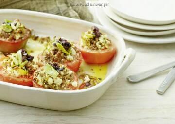 Wochenplan leichte Gerichte Vorweihnachtszeit: Gratinierte Tomaten