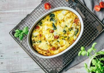 Wochenplan Low Carb zum Sattwerden: spinat tomaten fittata