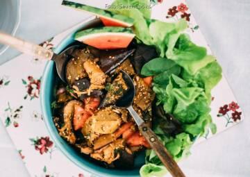 Wochenplan Mediterran: auberginensalat