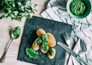 Wochenplan Saison April: Kartoffeln mit Feldsalat