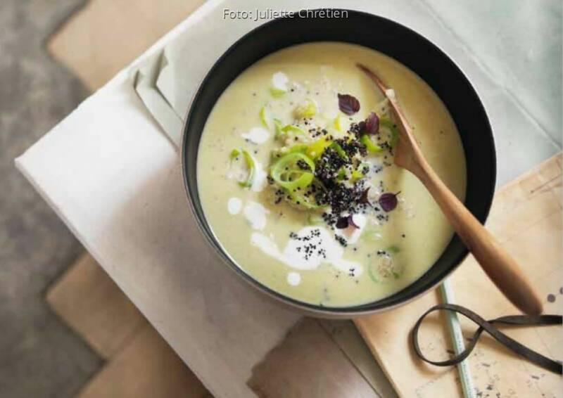 Wochenplan Saison September: Lauch Quinoa Suppe