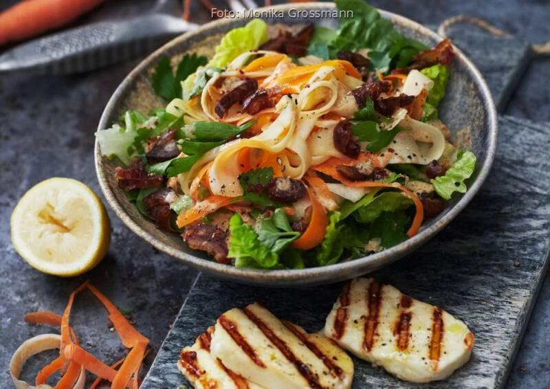 Wochenplan Saisonal im August: pastinaken moehren salat