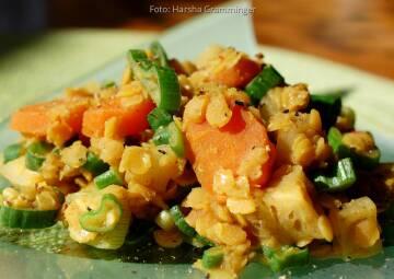 Wochenplan Saisonal im August: steckrueben curry vegan