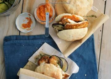 Wochenplan Sommer: pita taschen mit grillgemuese und paprika