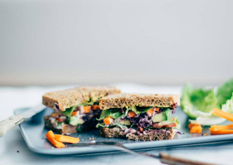 Wochenplan to go: avocado veggie sandwich