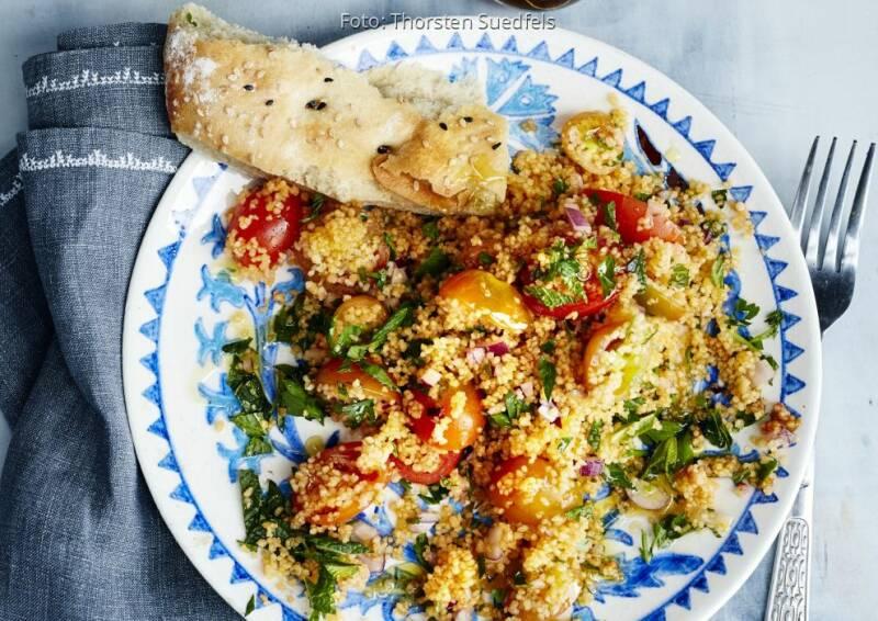 Wochenplan: Tomaten - CousCous Salat