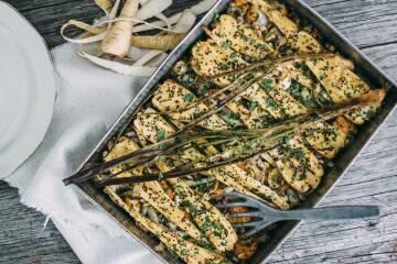Wochenplan unterschätztes Gemüse: Header Überbackene Pastinaken