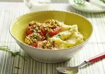Wochenplan unterschätztes Gemüse: Selleriepueree mit gebackenen tomaten
